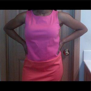 Orange and Pink color-block Tommy Hilfiger Dress